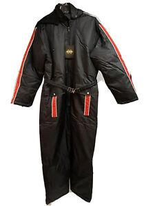 Guide Gear Down Insulated Waterproof Black One Piece Zip Snowsuit Medium New