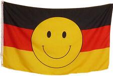 Fahne Flagge Deutschland mit Smiley 1,5 Meter x 0,9 mit Oesen Fun Smily Neu