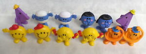 """Little Miss & Mr Man  LOT of 12  Arby's PVC Roger Hargreaves 2.5"""" Tall"""