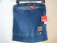 NWT Esprit Kids Denim Blue Jean Skirt Medium Wash Girl 8 New Hippie Bohemian $34