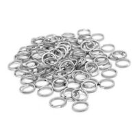 100Pcs Fishing Stainless Steel Snap Double Circle Ring Lure Tackle Connector