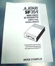 livret atari SF354 - mini unite de disquette simple face double densite