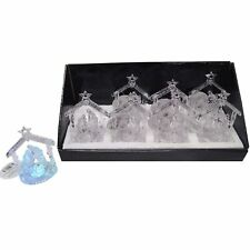 Mini Christmas Acrylic LED Light Up Mini Nativity Scene Ornament Decoration Xmas