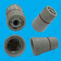 1x Edison Screw E27 ES Glazed Ceramic Socket Light Bulb M10 Thread Lamp Holder