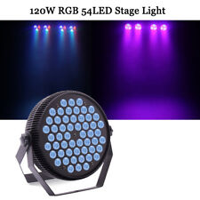 54 LED 120W RGBW Par Stage Light DMX512 DJ Disco Party Wedding Rainbow Lighting