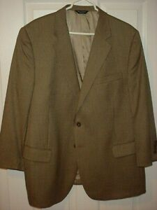 Jos. A. Bank Mens 48R Brown Houndstooth Wool Blazer Sport Coat Suit Jacket