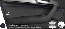 PURPLE STITCH 2X FRONT DOOR CARD TRIM LEATHER COVER FOR AUDI A3 8P 04-12 5 DOOR