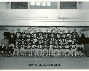 1959 PITTSBURGH STEELERS 8X10 TEAM PHOTO FOOTBALL PICTURE NFL