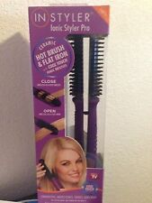 InStyler Ionic Styler Pro Ceramic Hot Brush & Flat Iron As seen on TV Free Ship