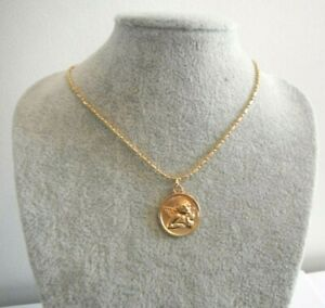 Cupid Pendant Golden Necklace Gift Boxed