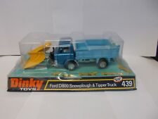 dinky 439 ford d800 snowplough tipper truck boxed 1973