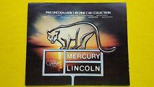 Mercury Lincoln Monarch Capri Bobcat Zephyr vi catalogo brochure auto 1980 Nuovo di zecca