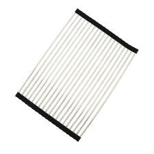 Stainless Steel Dish Drainer Over Sink Roll-Up Dish Drying Rack Draining Mat YWL