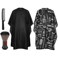 Barbershop Haircut Gowns Hair Cutting Capes Neck Duster Comb Hairdressing Brush