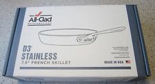 """New All-Clad D3 Tri-Ply Stainless-Steel Fry Pan 7 1/2"""""""