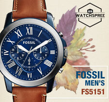 Fossil Grant Chronograph Light Brown Men's Leather Watch FS5151 AU FAST & FREE