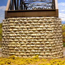 Chooch 8432  HO Scale  Cut Stone Double Track Bridge Pier     MODELRRSUPPLY