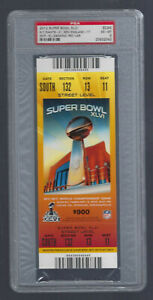 PSA EXMT 6 - VINTAGE 2012 NFL SUPER BOWL XLVI FULL TICKET PATRIOTS vs GIANTS