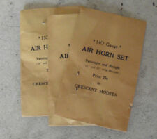 Lot of 3 Packs Vintage HO Scale Crescent Models Air Horn Set NIP
