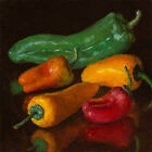original+daily+painting+a+day+contemporary+still+life+peppers+6x6%22%2C+Youqing+Wang