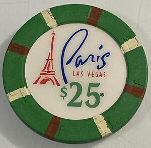 PARIS $25 Casino Chip Las Vegas Nevada 3.99 Shipping