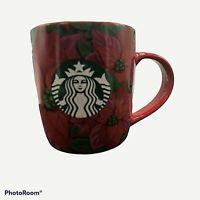 Starbucks Holiday 2020 12oz Red Poinsettia Coffee Tea Mug Cup