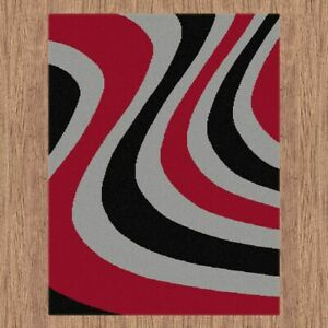 Budget BCF Rug Collection Wave Designs Soft Feel In All Sizes