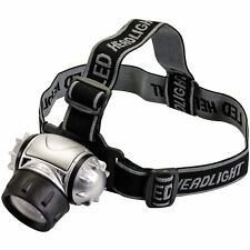 Silverline 140079 12 LED Multi-Mode Headlamp Light Water Resistant Bike Cave