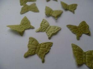 100 SAGE GREEN BUTTERFLY SILK ROSE PETAL/WEDDING/TABLE/CONFETTI/DECORATION