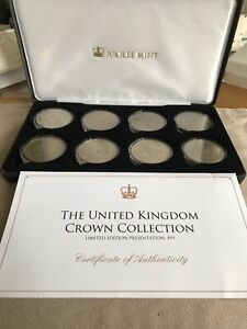 Limited Edition British Uncirculated Cased 8 Crown Coin Set