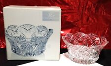 "Celebrations Mikasa Belmont Collection 24% Lead Crystal Serving Bowl 9.25"" - NIB"