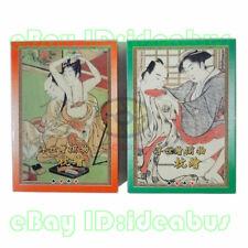 Big Jumbo Sized SET 2 Decks Playing card/Poker Japan UKiyoe Erotica Art Painting