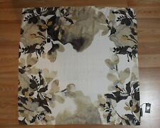 New Vince Camuto Misty Blooms Square - Buff - 100% Silk Scarf  - 36X36in - VC222