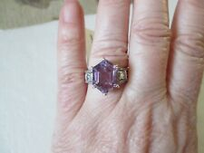 Rose De France Amethyst Ring Size 7 Platinum over Sterling Silver TGW 5.72 cts