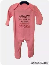 Personalised Baby Grow, WARNING Don't check out my Mummy/ Daddy Newborn Gift