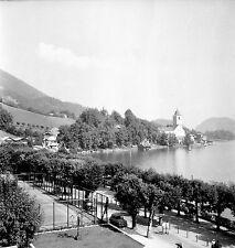 AUTRICHE c. 1953 -Tennis du Grand Hôtel Sankt Wolfgang - Négatif 6 x 6 - Aut 190