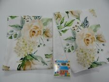 Floral Burp Cloths August Rose 2 Pack Toweling Backed GREAT GIFT