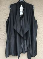 NWT IMAN Runway Chic Luxurious Lyocell Vest Top  Charcoal Black Plus 2X