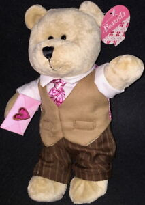 STARBUCKS 2007 VALENTINE'S DAY 58th BEARista BEAR Collection TEDDY BEAR Plush