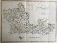 1805 Antique Map & Chapter; Berkshire, Camden's Britannia, Gough, Cary / Noble