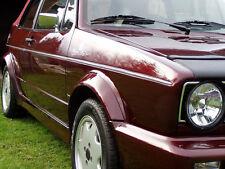 Chrom Zierleisten Seitenleisten 6-tlg, schmal, VW Golf 1 u. Golf 1 Cabrio, NEU