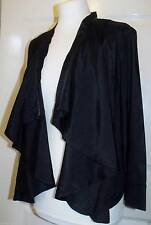 NEW BLACK VISCOSE WATERFALL CARDIGAN ~ SHRUG JACKET~ TOP IN SIZE 16 BARGAIN!!!!.