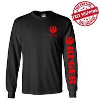 RUGER Long Sleeve T - Shirt ASSAULT RIFLE 2nd AMENDMENT BRAND PRO GUN AR-15