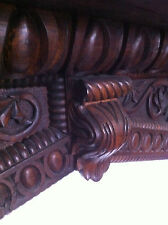 Reclaimed Antique Ship Timber Solid Oak Carved Wooden Fireplace Surround (PK170)