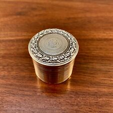 RARE WILLIAM PARKER GEORGIAN GILT STERLING SILVER SNUFF / PILL BOX 1811