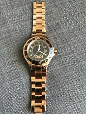 Women's Watch D&G gold stainless steell with black face with gold frame