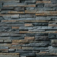 9 SHEETS EMBOSSED BUMPY PAPER BRICK stone wall 21x29cm 1//12 landscape code a18