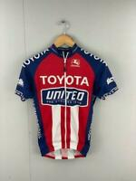 Giordana Mens Blue Red White Colorblock Toyota Cycling Jersey Size XSmall