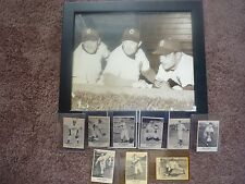 9 1948-9 REMAR BREAD BASEBALL CARDS PHOTO OF MGR DRESSEN, COACH KELLY& LAVAGETTO
