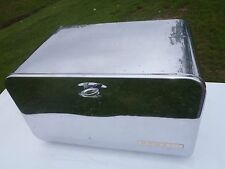 RARE VINTAGE CHROME PLATED BEAUTY BOX BY LINCOLN BREAD BOX WITH COOKIE DIVIDER,P